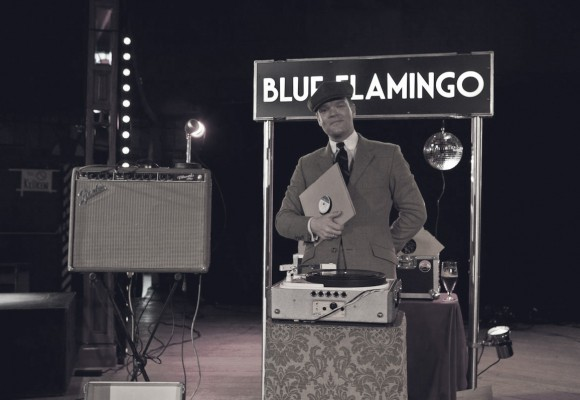 D.J. Blue Flamingo